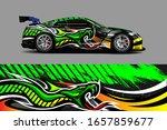 car wrap. modern racing car... | Shutterstock .eps vector #1657859677