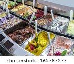 Ice Cream Of Many Varieties In...