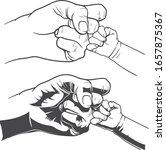 hands of dad and baby  | Shutterstock .eps vector #1657875367
