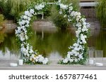 Circle Wedding Arch Decorated...