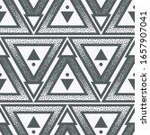seamless modern halftone... | Shutterstock .eps vector #1657907041