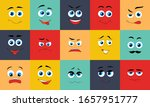 cartoon expression faces. funny ... | Shutterstock .eps vector #1657951777