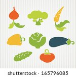vector collection of vegetables ... | Shutterstock .eps vector #165796085
