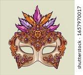 Mardi Gras Mask And Girl...
