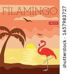 flamingo   filamingo . vector... | Shutterstock .eps vector #1657983727