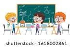 little children studying... | Shutterstock .eps vector #1658002861