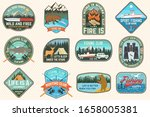 set of fishing  camping patch.... | Shutterstock .eps vector #1658005381