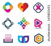 link connection symbol logo... | Shutterstock .eps vector #165802451