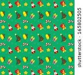 christmas sticker and vector... | Shutterstock .eps vector #165802505