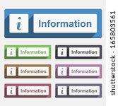 information button  flat design ...