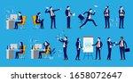 office people set   a... | Shutterstock .eps vector #1658072647