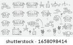 vector indoor house sketch... | Shutterstock .eps vector #1658098414