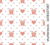 vector seamless pattern happy... | Shutterstock .eps vector #1658107387