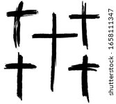 christian cross. collection of...   Shutterstock .eps vector #1658111347