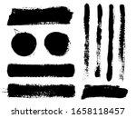 brush strokes. vector... | Shutterstock .eps vector #1658118457