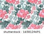 vector floral seamless pattern... | Shutterstock .eps vector #1658124691