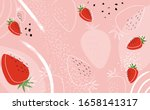 Strawberry Abstract Hand...
