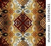 3d gold baroque vector seamless ... | Shutterstock .eps vector #1658146261