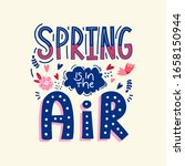 spring season ad text isolated... | Shutterstock .eps vector #1658150944