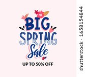 spring season ad text isolated... | Shutterstock .eps vector #1658154844