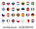 set of vector flags of the... | Shutterstock .eps vector #1658158744