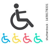disabled handicap multi color...