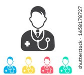 doctor multi color icon set.... | Shutterstock .eps vector #1658178727