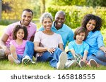 multi generation african... | Shutterstock . vector #165818555