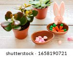 Easter Decorations. Toy Bunny...
