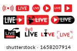 set of live streaming icon or... | Shutterstock .eps vector #1658207914