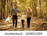 happy family mom dad and... | Shutterstock . vector #165821309