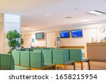 chairs lined up in a hospital... | Shutterstock . vector #1658215954
