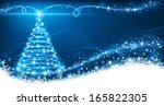 christmas background with magic ... | Shutterstock .eps vector #165822305