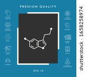 chemical formula icon.... | Shutterstock .eps vector #1658258974