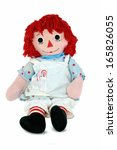 Old Rag Doll With Candy Cane I...