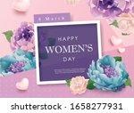 happy women's day poster design ... | Shutterstock .eps vector #1658277931