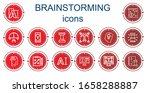 editable 14 brainstorming icons ...   Shutterstock .eps vector #1658288887