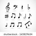 set of music notes | Shutterstock . vector #165829634