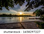 Evening Sun At Tha Chin River...