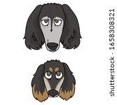cute cartoon saluki puppy and...   Shutterstock .eps vector #1658308321