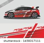 car wrap decal design vector ... | Shutterstock .eps vector #1658317111