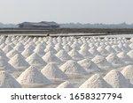 sea salt in salt farm ready for ... | Shutterstock . vector #1658327794
