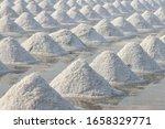 sea salt in salt farm ready for ... | Shutterstock . vector #1658329771