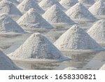 sea salt in salt farm ready for ... | Shutterstock . vector #1658330821