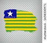 flag of piaui from brush...