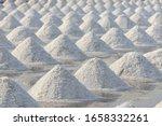 sea salt in salt farm ready for ... | Shutterstock . vector #1658332261