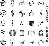 set of original web icons in a...