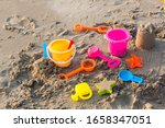Plastic Sandbox Toys On The...