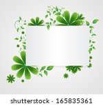 flowers on a paper background | Shutterstock . vector #165835361