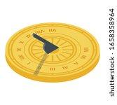 Sundial Icon. Isometric Of...
